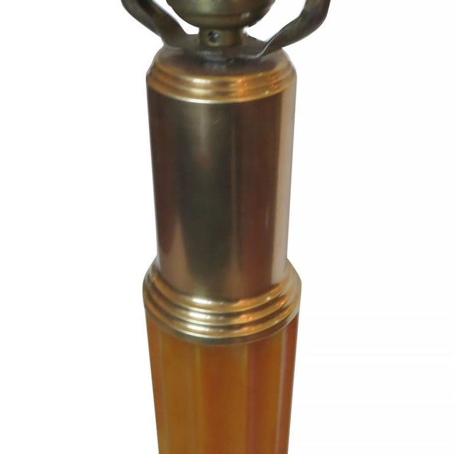 Art Deco Art Deco Celluloid and Brass Table Lamp For Sale - Image 3 of 6