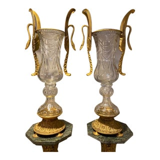 French Monumental Urns/ Vases - a Pair For Sale