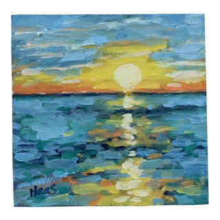 Original Oil Painting Seascape, Sunset For Sale