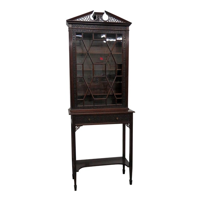 19thC Georgian Collectors Cabinet For Sale