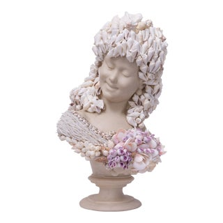 Shell-Encrusted Composition Bust For Sale