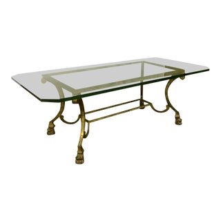 Maison Ramsay Rarest Lion Legs Gold Leaf Wrought Iron Big Coffee Table
