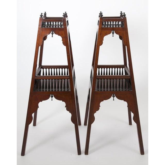 Mahogany Antique English Regency Mahogany and Ebonized Wood Etageres For Sale - Image 7 of 7