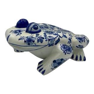 Huge Chinoiserie Ceramic Garden Frog For Sale