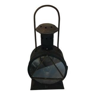 Vintage Handled Tole Lantern For Sale