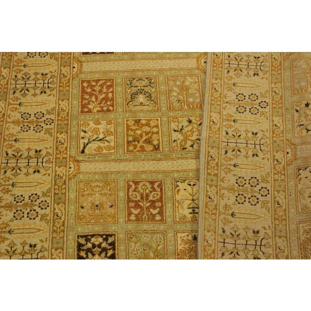 Textile Istanbul Jerri Tan/Gold Turkish Hand-Knotted Rug -4'1 X 6'0 For Sale - Image 7 of 8