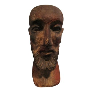 20th Century Figurative Resin Bust of Bearded Man For Sale