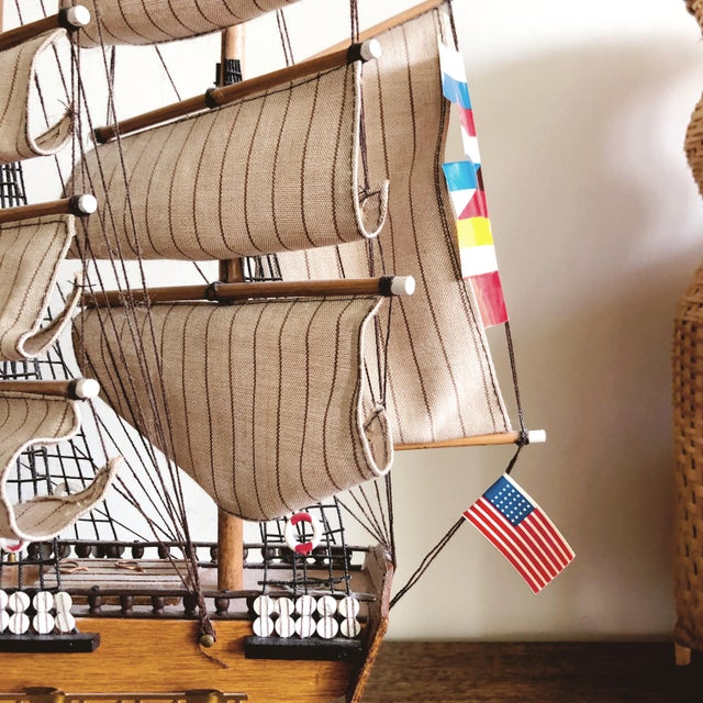 "Vintage Model Ship ""uss Constitution"" For Sale - Image 4 of 8"
