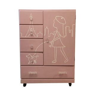 Little Girl's Paris Cabinet Armoire