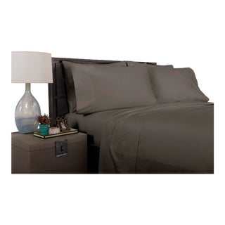 Florence Solid Flat Sheet Queen - Graphite For Sale