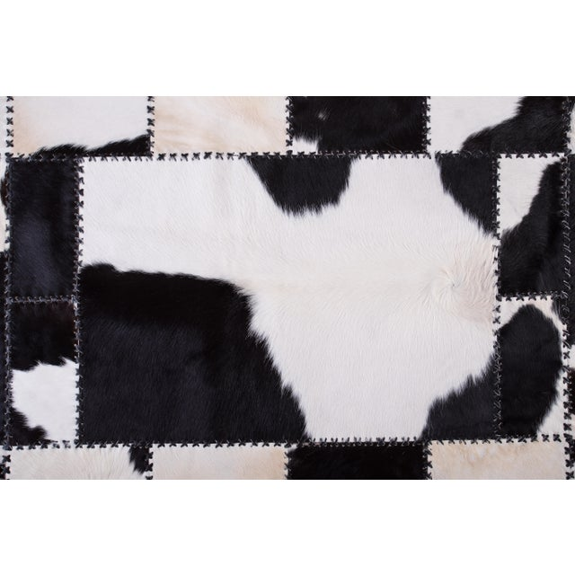 "Aydin Cowhide Patchwork Accent Area Rug - 4'7"" x 8'0"" For Sale In Chicago - Image 6 of 9"