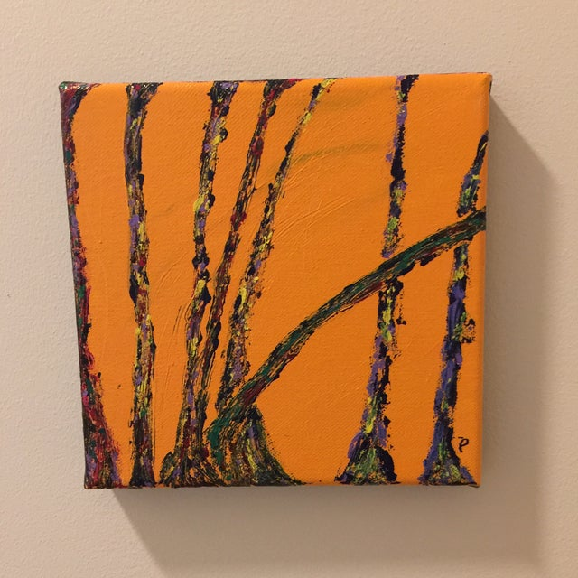 "Abstract Modern ""Conversations"" Acrylic Painting For Sale - Image 3 of 6"