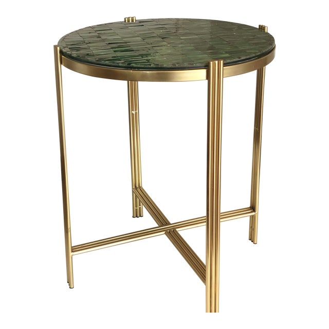 Art Deco Mosaic Side Table For Sale