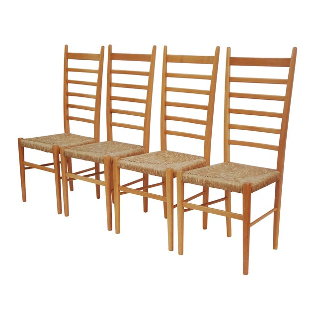 1960s Italian Ladder Back Dining Chairs