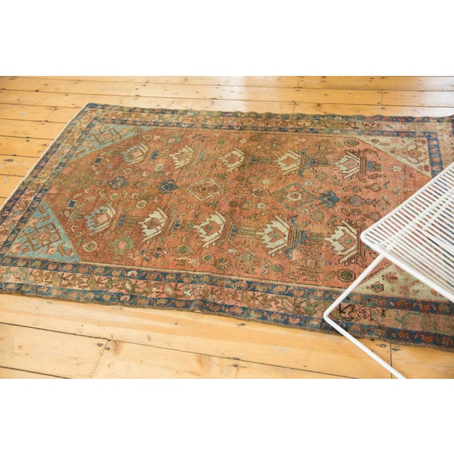 """Vintage Distressed Malayer Rug - 4' X 6'1"""" For Sale - Image 11 of 13"""