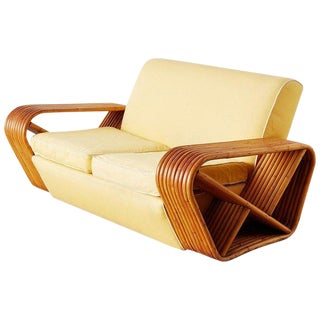 Restored Paul Frankl Nine Strand Settee Loveseat For Sale