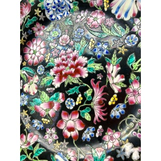 Chinese Mille Fleur Famille Noir Floral Plate Preview