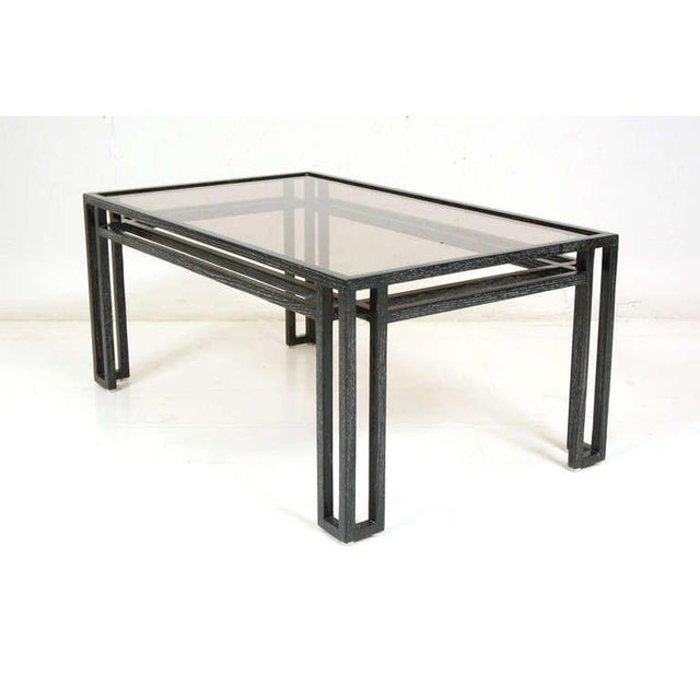 Mid-Century Modern Cerused Oak Coffee Table For Sale - Image 4 of 6