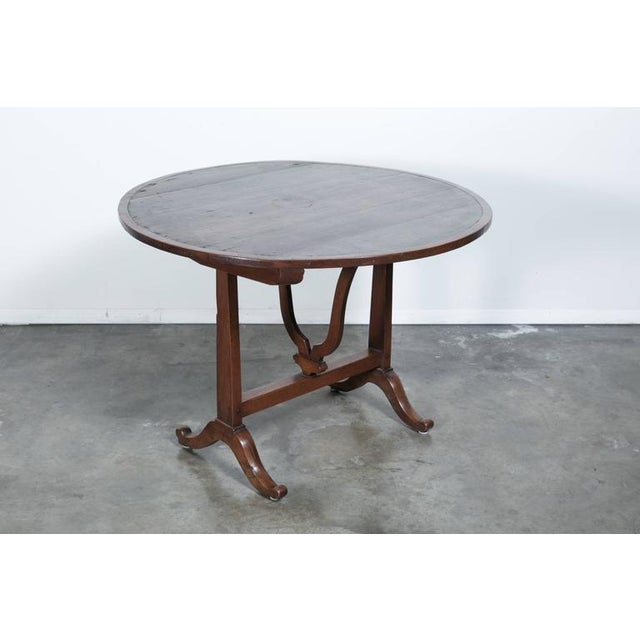 French Antique French Wine Tasting Table For Sale - Image 3 of 10