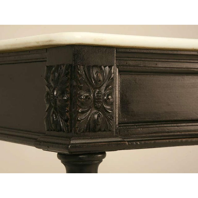 Brown Ebonized Antique French Louis XVI Sofa Table For Sale - Image 8 of 10