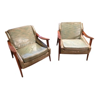 1950s Mid-Century Chairs-a Pair For Sale