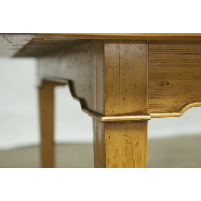 Italian Pine Farm Dining Table - Image 4 of 11