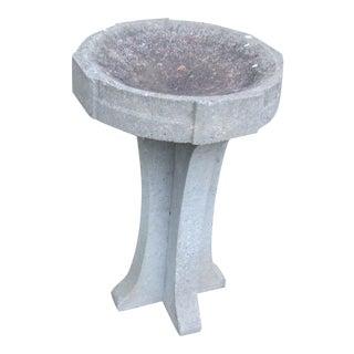Mid 20th Century Cement Birdbath For Sale