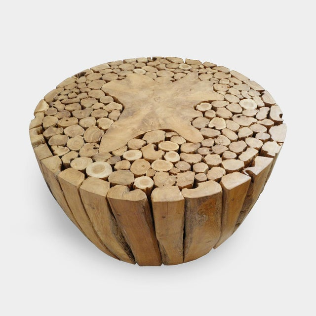 Contemporary Teak Root Coffee Table For Sale - Image 3 of 7