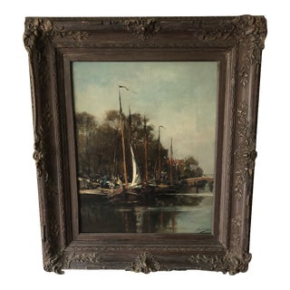 19th Century Dutch Impressionism Painting by Jan Hillebrand Wijsmuller For Sale