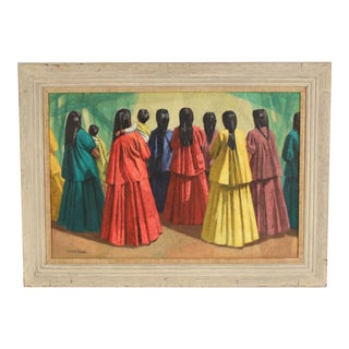 Painting of Hispanic Women by Gerald Grace For Sale