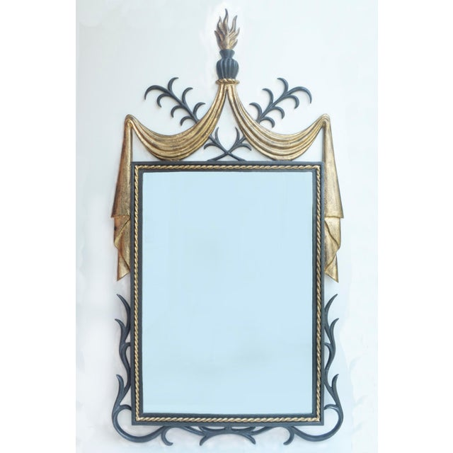 1950s Gilbert Poillerat-Style Iron & Gilt Wall Mirror For Sale In Richmond - Image 6 of 6