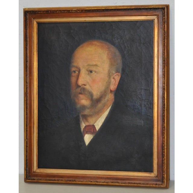 19th C. Male Oil Portrait - Image 2 of 8