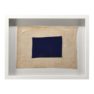 "Real Cotton Framed Signal Flag ""S"" For Sale"