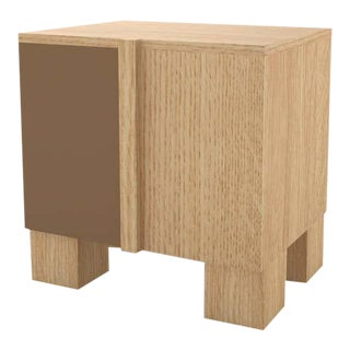 Contemporary 100 Bedside in Oak and Brown by Orphan Work, 2020 For Sale