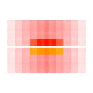 "Color Space Series 27: Pink, Red, Yellow Print - Fine Art Print - 48"" X 36"" - by Jessica Poundstone For Sale"