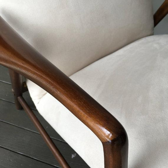 Alf Svensson Danish Reclining Lounge Chair & Ottoman - Image 6 of 7