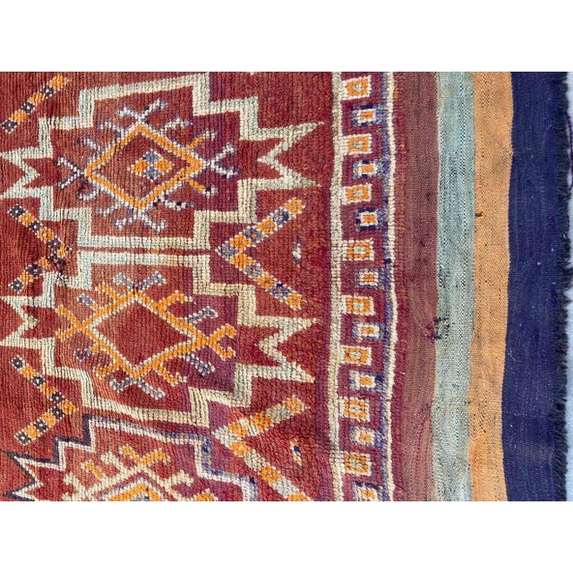 Moroccan Vintage Hand-woven Marrakech Tribal Rug, circa 1960 For Sale In Los Angeles - Image 6 of 13