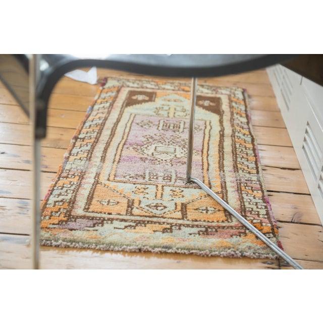 """Vintage Oushak Rug Mat Runner - 1'7"""" X 3'6"""" - Image 4 of 6"""