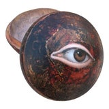 Image of Antique Chinese Geisha Powder Box with Eye For Sale