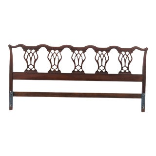 Hickory Chair Company Mahogany Chippendale King Size Headboard For Sale