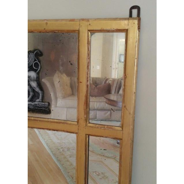 19th Century Neoclassical Eglomise Mirror With Angel & Griffin For Sale In Miami - Image 6 of 7