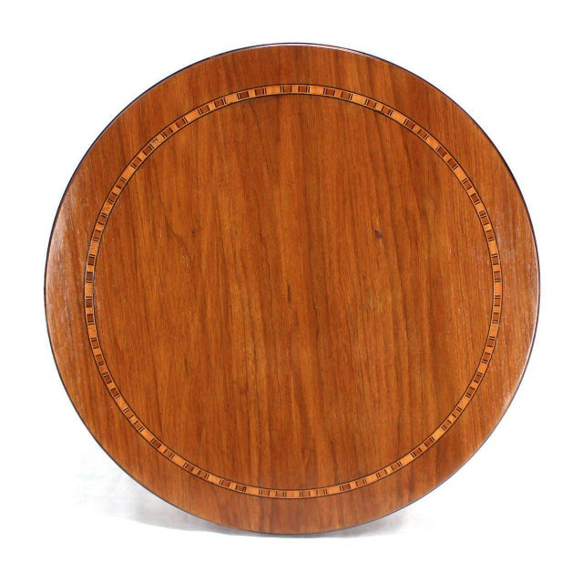Wood Baker Two-Tone Round Gueridon or Center Drum Table For Sale - Image 7 of 10