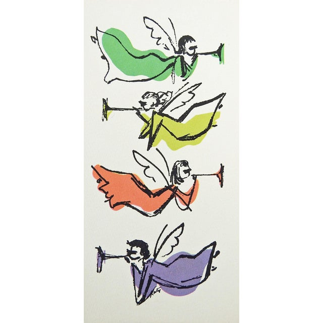 Mid-Century Modern Mid-Century Modern Christmas Cards - S/8 For Sale - Image 3 of 7
