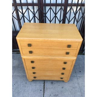 1940s Art Deco Oak Highboy Chest of Drawers Preview