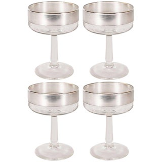 Set of Four Mid-Century Modern Champagne Coupes by Dorothy Thorpe For Sale