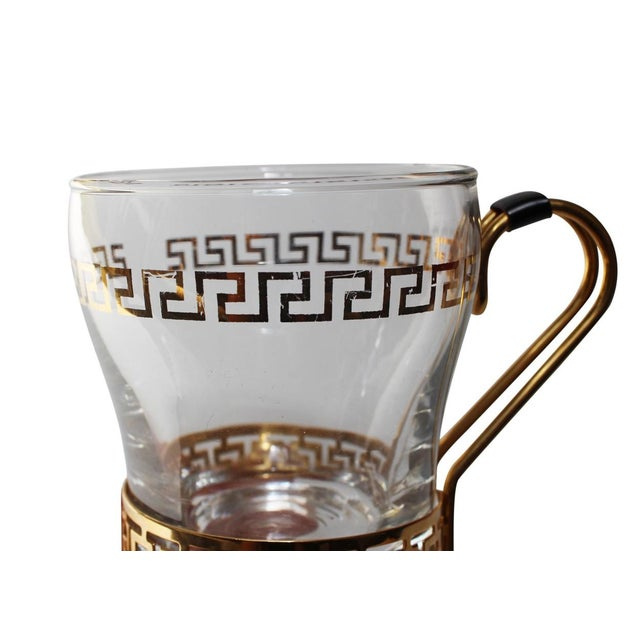 Greek Key Coffee Cups - Set of 4 For Sale - Image 4 of 4