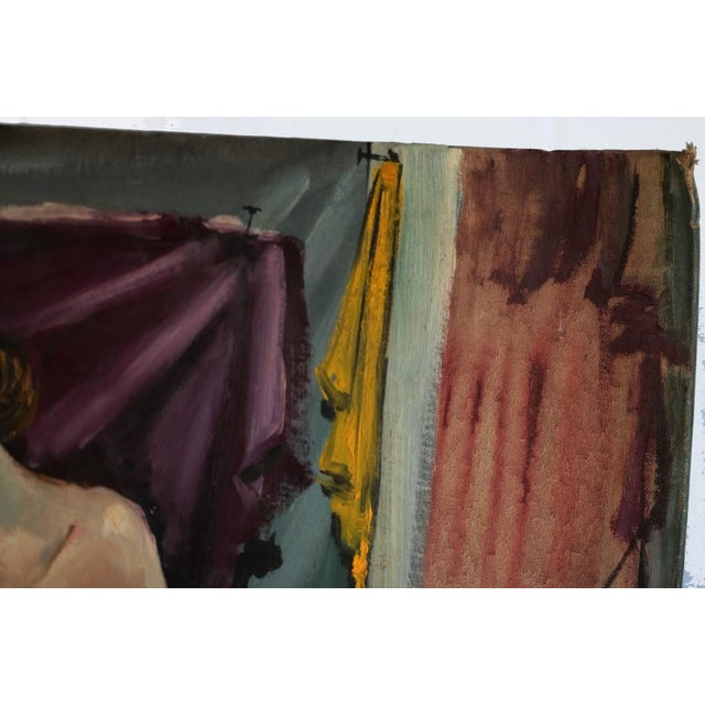 Mid-Century Modern Original Alvin M. Cohen Oil Painting For Sale - Image 3 of 5