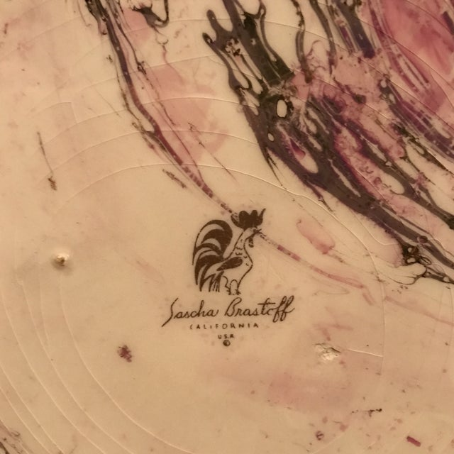 Midcentury Sasha Brastoff Ceramic Plate - Image 6 of 7