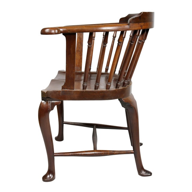Brown George III Mahogany Captains Armchair For Sale - Image 8 of 10