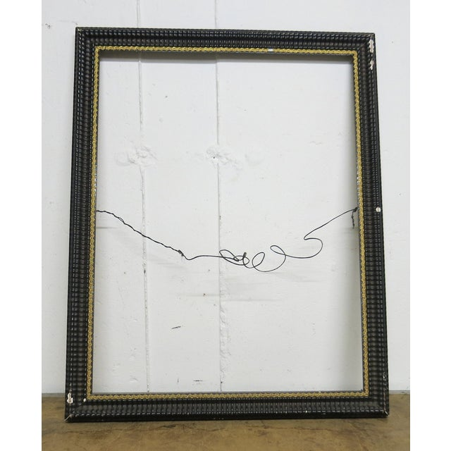 Ebony 1850 Antique Ripple Picture Frame For Sale - Image 8 of 8